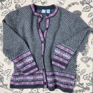 Vintage Wool Fair Isle Button Down Cardigan Size S
